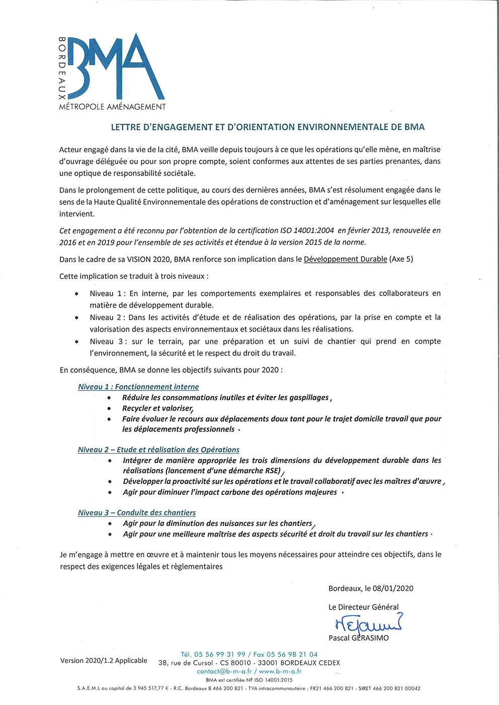 LettreEngagementetOrientationEnvironnementaleBMA-2020