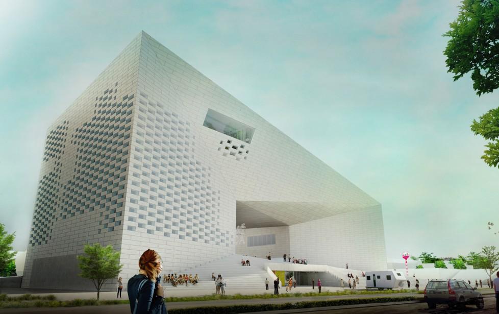Le projet de Maison de l'économie créative et de la culture à Bordeaux. Livraison prévue en 2017